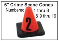 "6"" Crime Scene Cones - Numbers 1-8