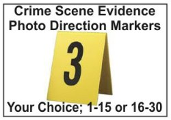 Crime Scene Evidence Photo Markers