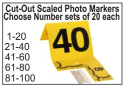 Crime Scene Evidence Cut-Out Photo Markers 