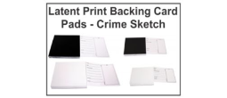 Latent Print Backing Card Pads - Crime Sketch