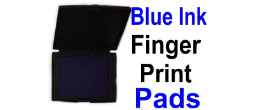 Fingerprint Pads With Blue Ink