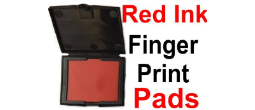 Fingerprint Pads with Red Ink