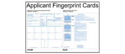 Applicant-Personnel-Immigration Fingerprint Cards