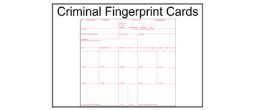 Criminal Fingerprint Card