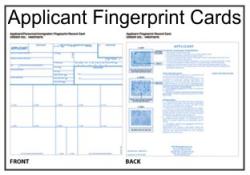 Applicant-Personnel-Immigration Fingerprint Cards
