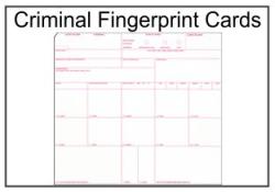 Criminal Fingerprint Card