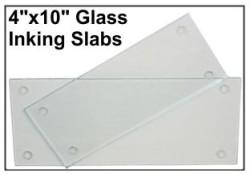 """4"""" X 10"""" Glass Inking Slab"""