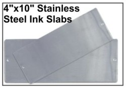 "4"" x 10"" Stainless Steel Slab"