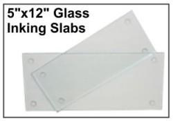 """5"""" X 12"""" Glass Inking Slab"""