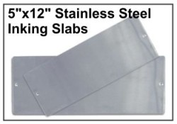 "5"" x 12"" Stainless Steel Inking Slab"