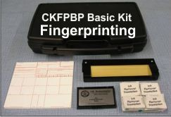 "CKFPBP Basic Fingerprint Kit, with Dark ""LE"" #3.5 Fingerprint Pad"