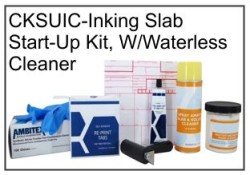 Inking Slab START-UP Kit W/Waterless Cleaner