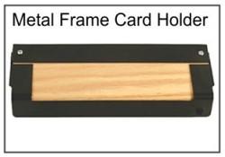 Desktop Fingerprint Cardholder, Wood/Metal Frame Fingerprinting Cardholder, Wood/Metal Frame